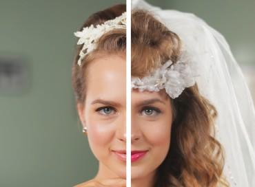 Penteados de noiva de 1960 até agora